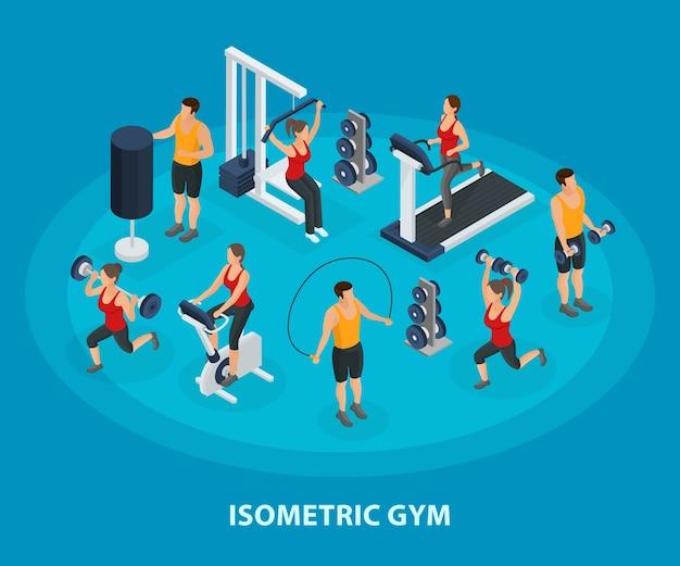 Sport isometrico e concetto di stile di vita sano Vettore gratuito