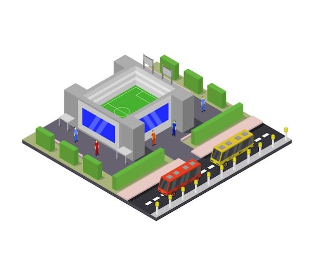Изометрический стадион Premium векторы