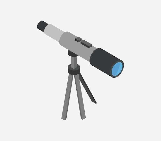 Изометрический телескоп Premium векторы