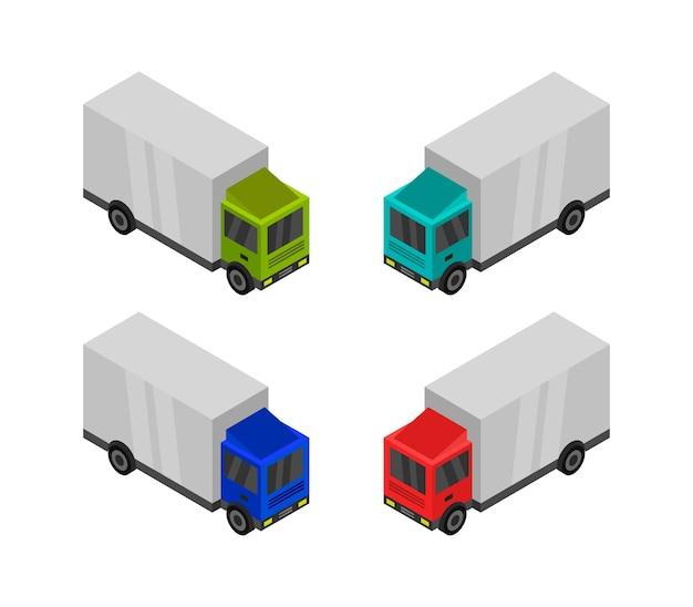 Изометрический грузовик Premium векторы