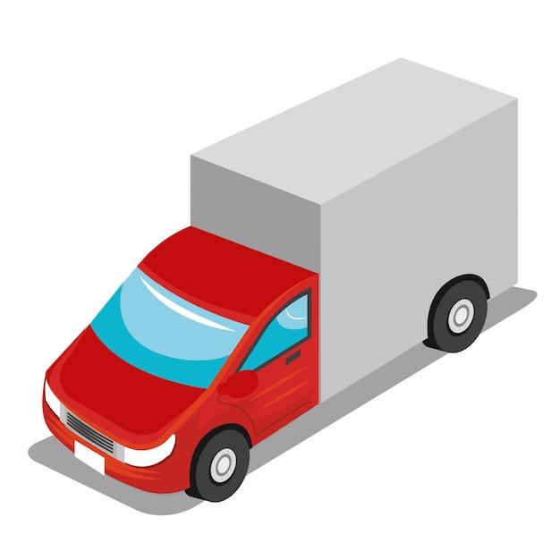 Isometric vehicle Free Vector