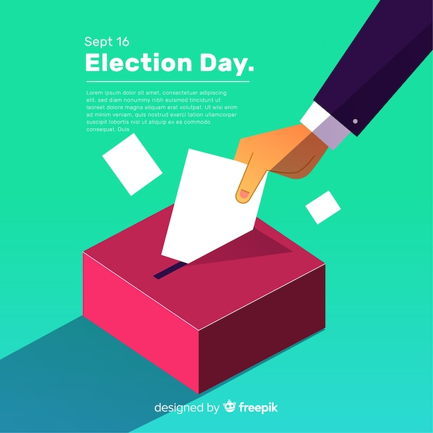 Isometric view of election box Free Vector