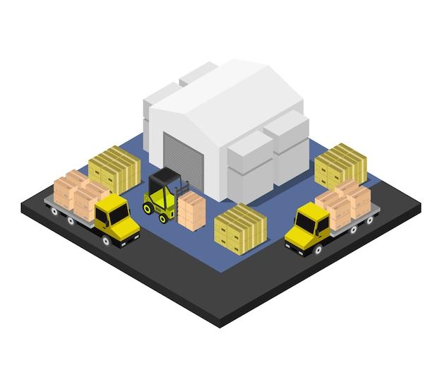 Изометрический склад Premium векторы