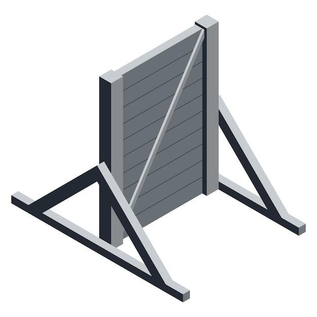 等尺性木製壁 Premiumベクター