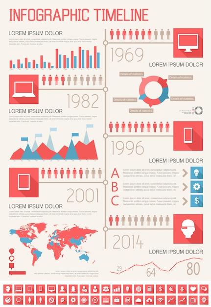 It industry infographic elements Premium Vector