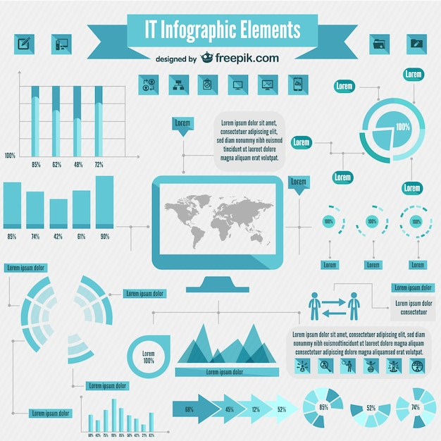 It Infographic Elements Vector Free Download