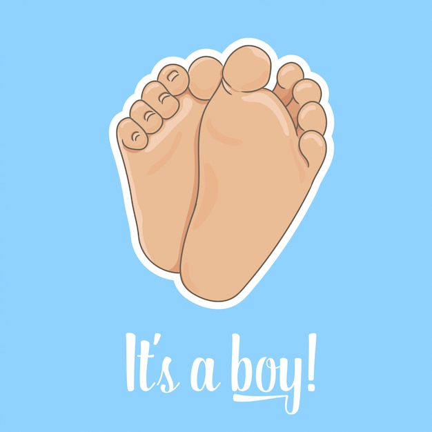 It is a boy announcement card Premium Vector