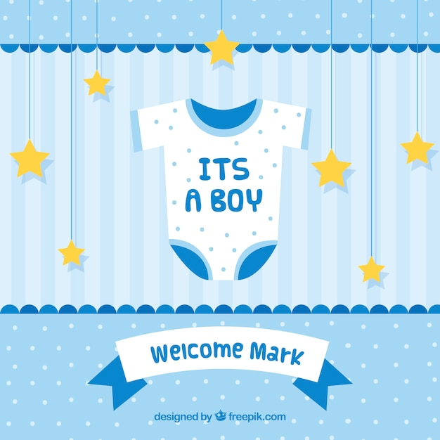 Its A Boy Baby Shower Background Vector Free Download