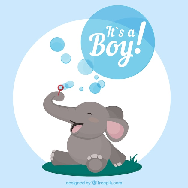 It's a boy card in hand drawn style Free Vector