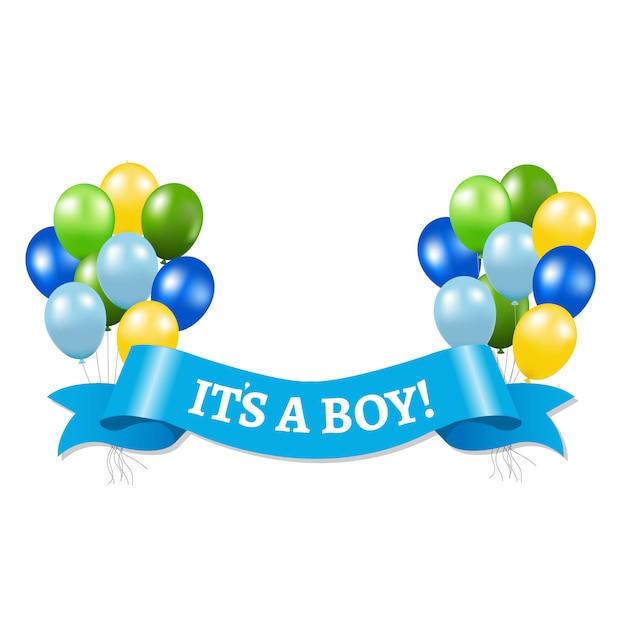 It's a boy Premium Vector