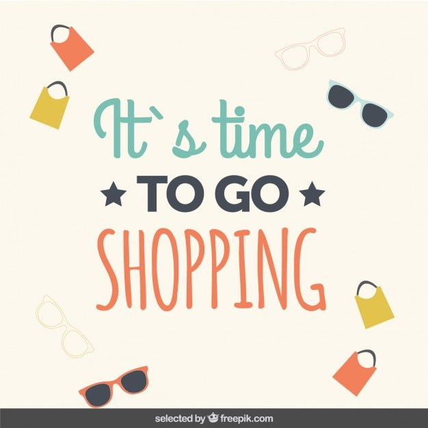 It S Time To Go Shopping Vector Free Download