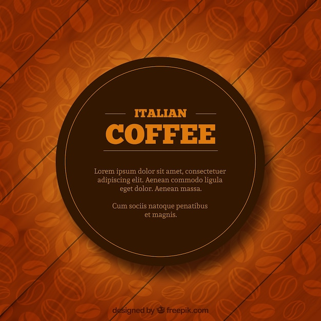 Italian coffee label Free Vector