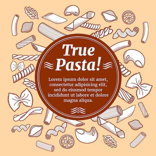 Итальянская кухня еда, вектор Premium векторы