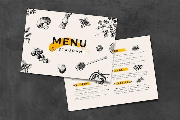 イタリア料理メニューテンプレートベクトル Premiumベクター
