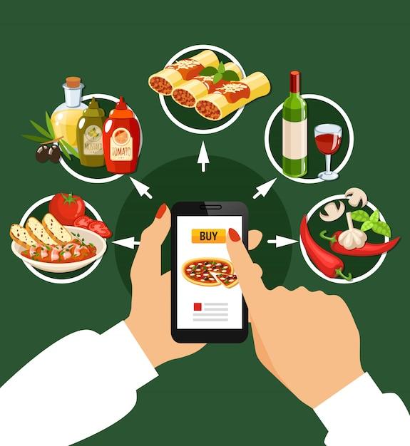 Italian cuisine set Free Vector