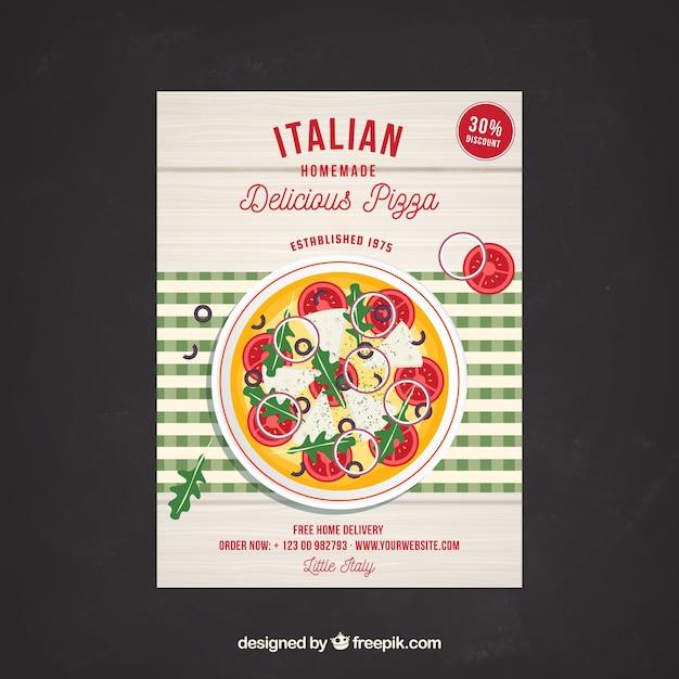 Italian delicious pizza poster
