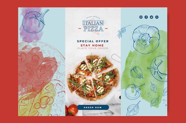 イタリア料理のバナーのコンセプト 無料ベクター