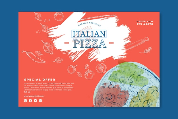 Italian food banner concept Free Vector