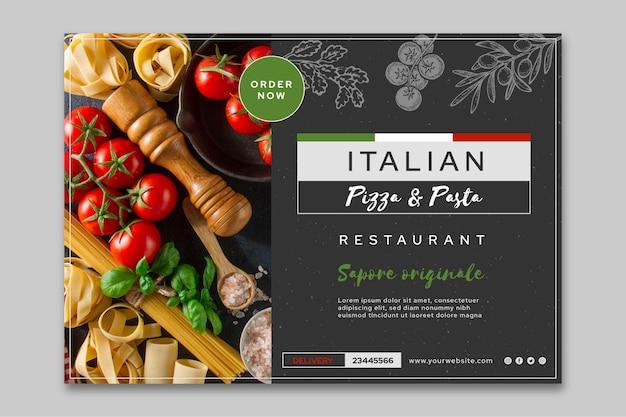 Modello di banner di cibo italiano Vettore gratuito
