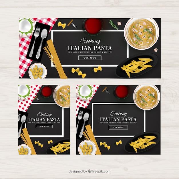 Italian food banners vector free download italian food banners free vector forumfinder Images