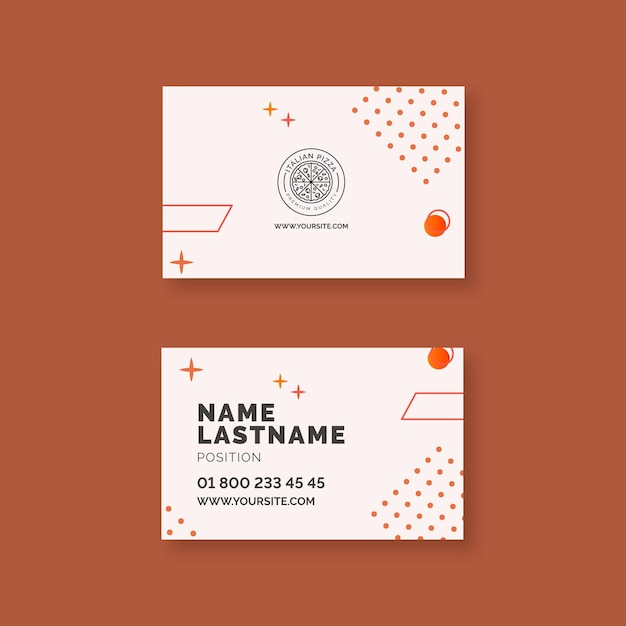 Italian food business card template Premium Vector