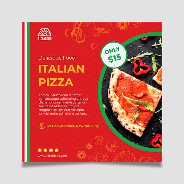 이탈리아 음식 전단지 서식 파일 무료 벡터