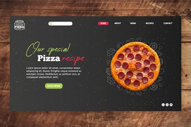 Italian food landing page template Free Vector