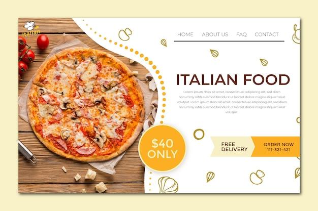 Italian food landing page Premium Vector