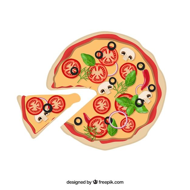 Italian food Pizza vector pack