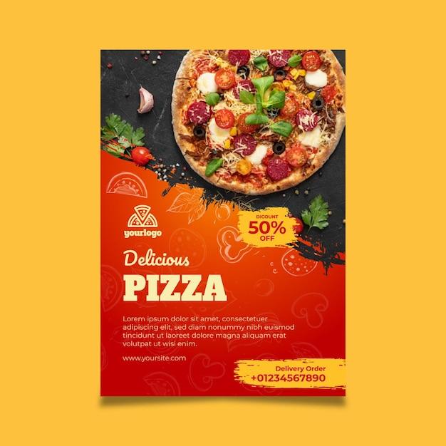 Modello di poster di cibo italiano Vettore gratuito