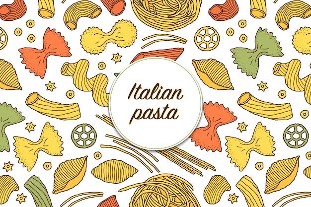 Итальянская паста Premium векторы