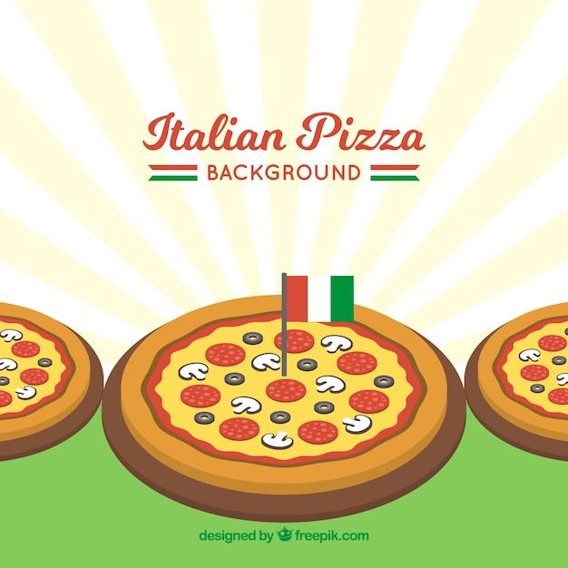 Italian pizza background