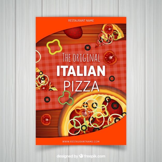 Italian pizza brochure
