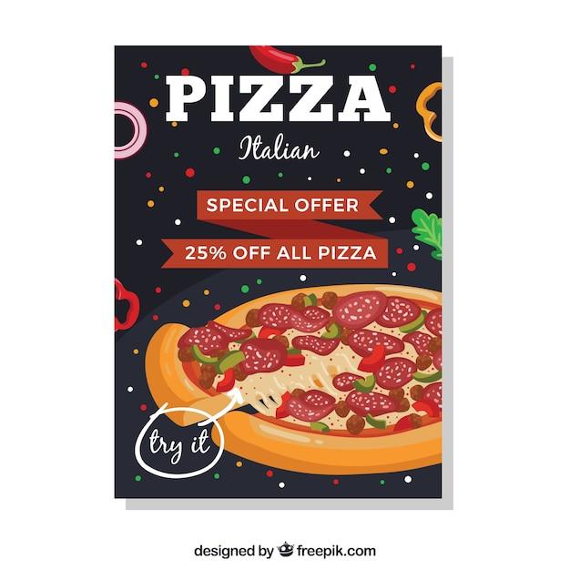 Italian pizza offer brochure
