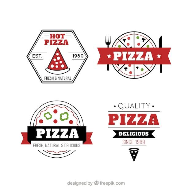 Italian Pizza Retro Labels