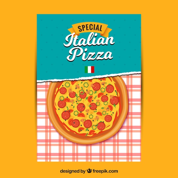 Italian pizza special brochure