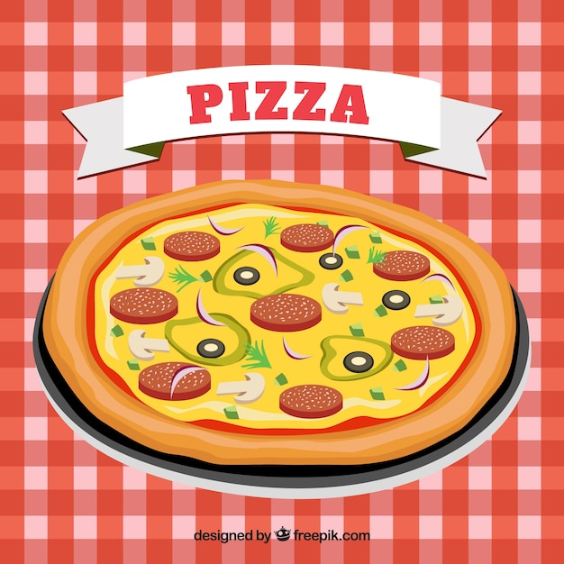 Italian pizza Vector | Free Download