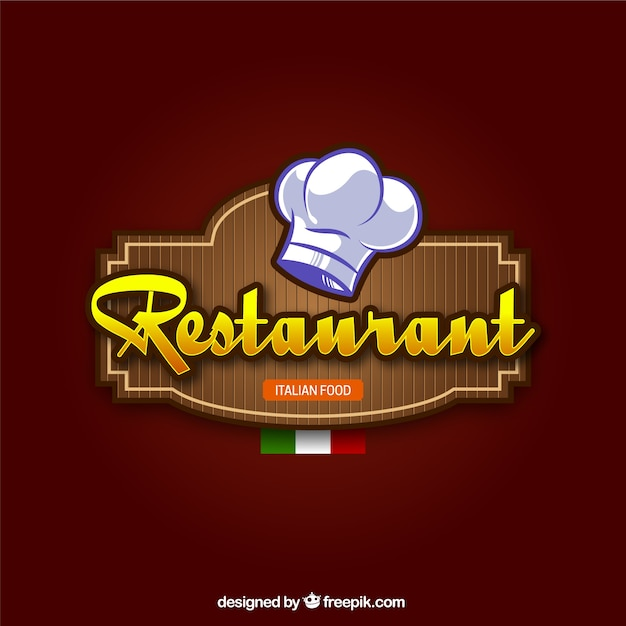 Italian restaurant background Free Vector