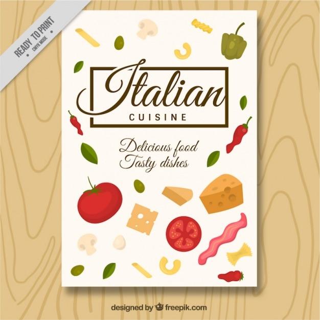 Italian restaurant brochure Free Vector