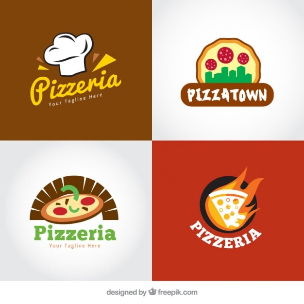 Italian restaurant logos pack Vector | Free Download