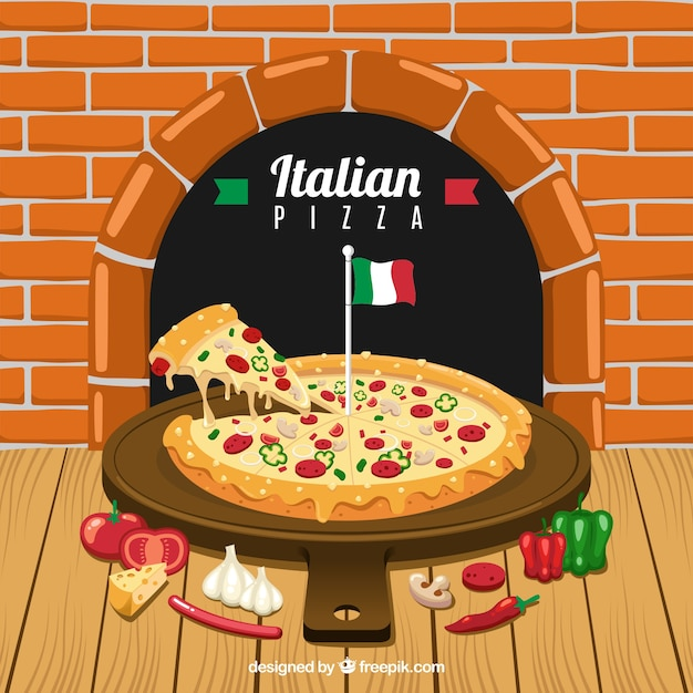 Italian Restaurant Menu Background Free Vector