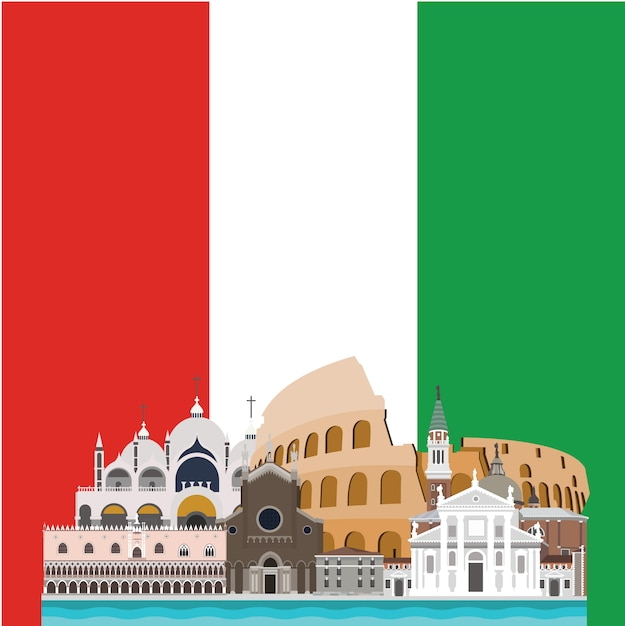 Italy background design vector free download for Design italia