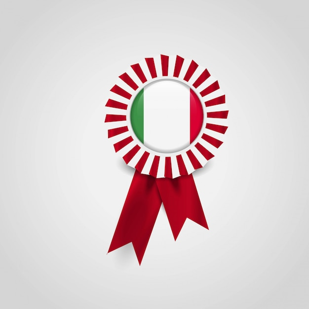 Italy flag badge design vector Free Vector