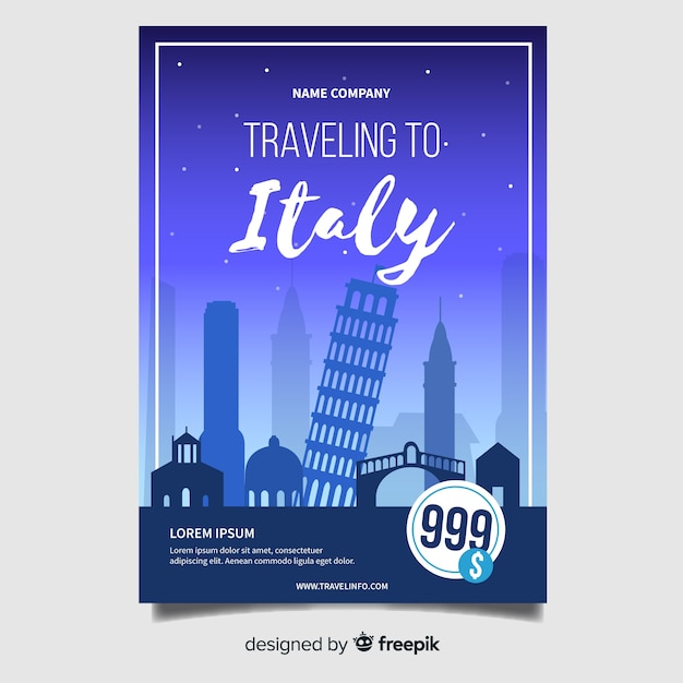 Italy flyer template Free Vector