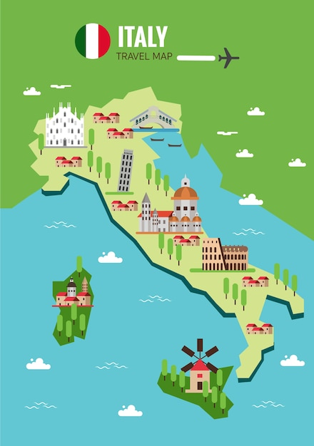Italy map background Vector | Premium Download