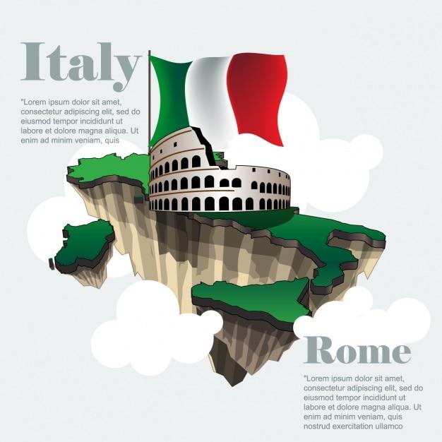イタリア、観光 無料ベクター