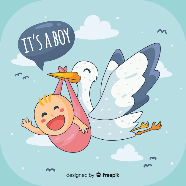 Its a boy baby shower template Free Vector