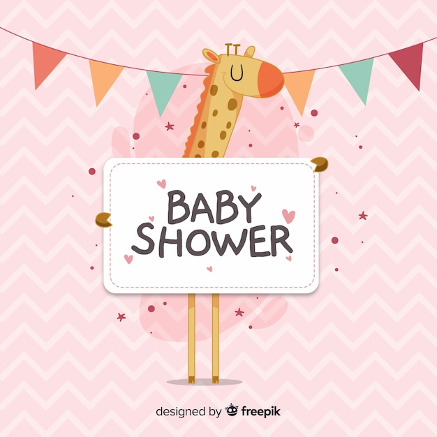Its a girl baby shower template Free Vector