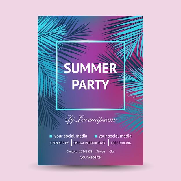 その夏のdjパーティー Premiumベクター