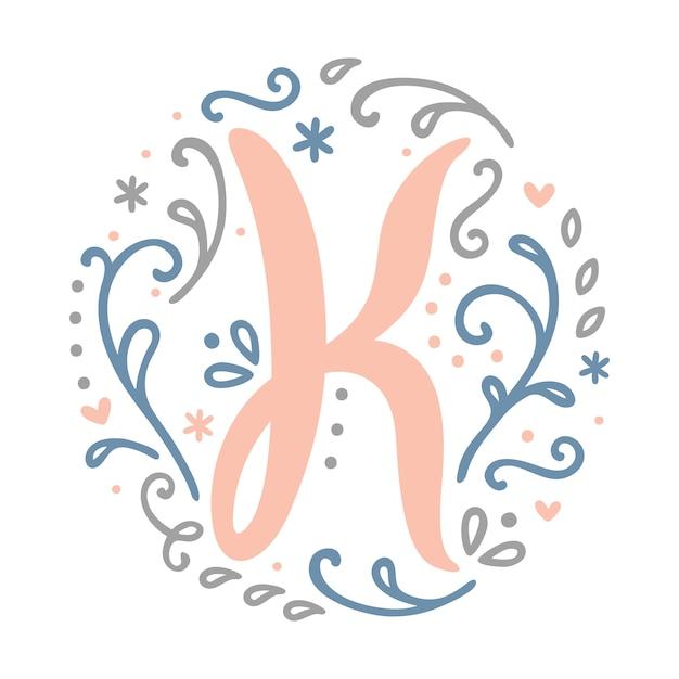 Premium Vector J Letter Monogram Design Feminine Style Alphabet Letter Floral Round Clipart
